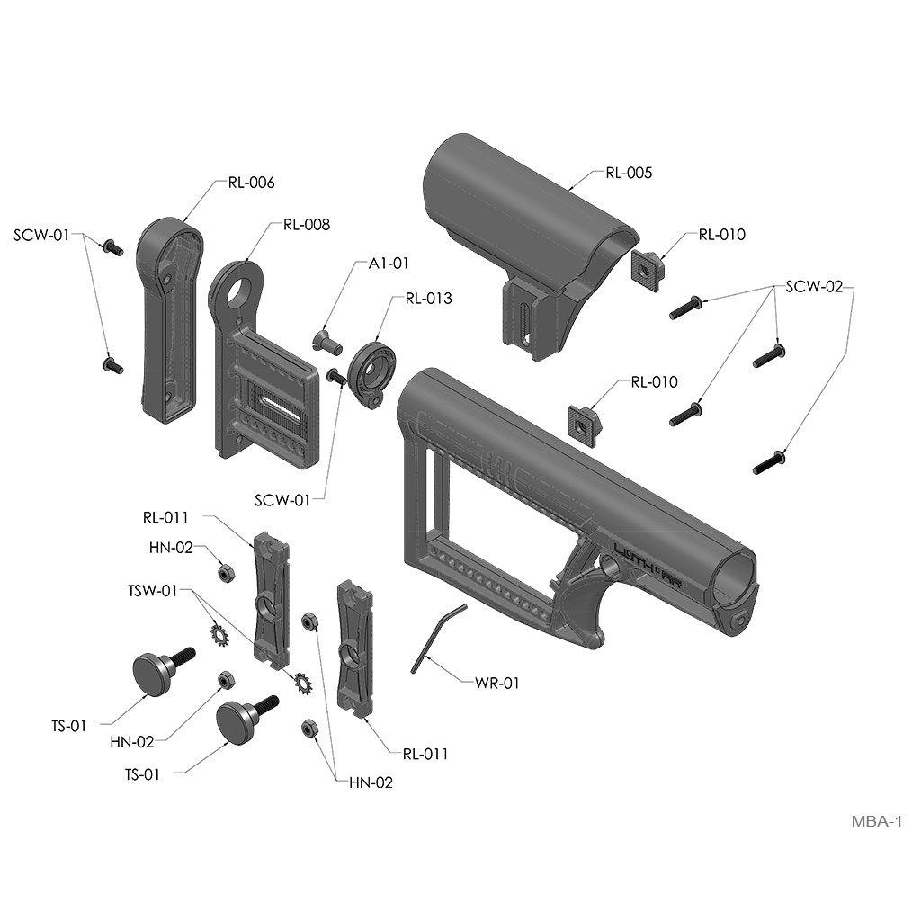 MBA-1 Rifle Buttstock