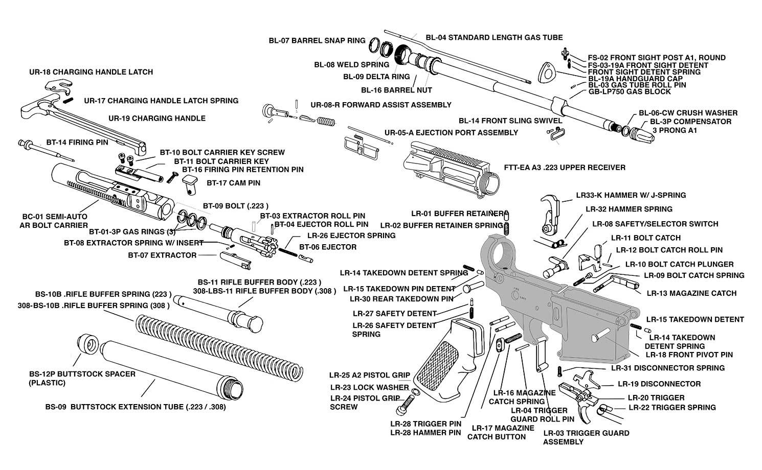 Schematics | Luth-AR on m16 schematic diagram, ar-15 schematic diagram, ak-47 schematic diagram,